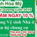 Giảm ngay 10% Dịch vụ tổng vệ sinh nhà ở trọn gói Nhân dịp Tết Dương lịch 2015