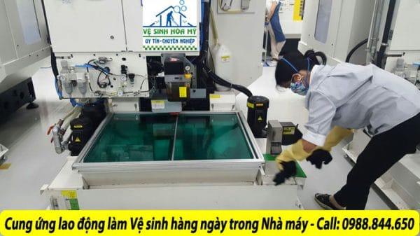 Cung ứng nhân công làm vệ sinh hàng ngày trong nhà máy