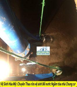 dịch vụ thau rửa bể nước ngầm tòa nhà chung cư