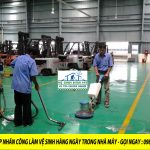 Dịch vụ cung ứng lao động làm vệ sinh hàng ngày cho nhà máy