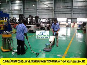 cung cấp nhân công vệ sinh làm sạch hàng ngày nhà máy