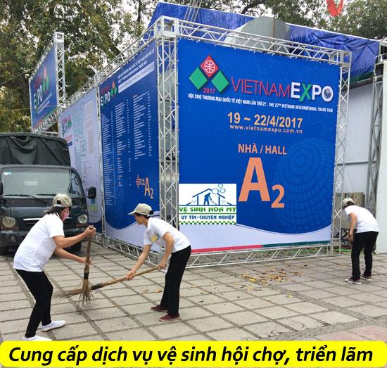Cung cấp dịch vụ vệ sinh hội chợ triển lãm