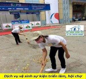 Dịch vụ vệ sinh sự kiện triển lãm hội chợ