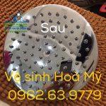 Dịch vụ Tẩy cáu cặn Canxi trên thiết bị Inox nhà tắm tại Hà Nội-0962.63.9779