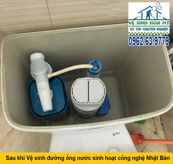 Thau rửa đường ống nước tòa nhà chung cư