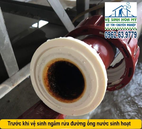 Thau rửa cáu cặn đường ống nước sinh hoạt