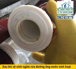 Vệ sinh cáu cặn đường ống nước sinh hoạt