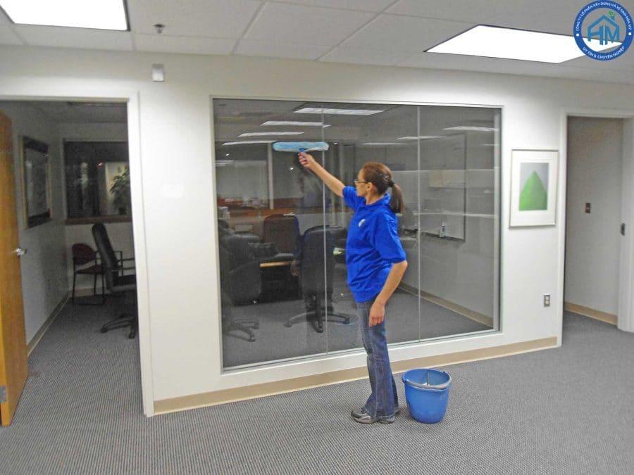 quy trình làm vệ sinh văn phòng hiện đại và tận tâm