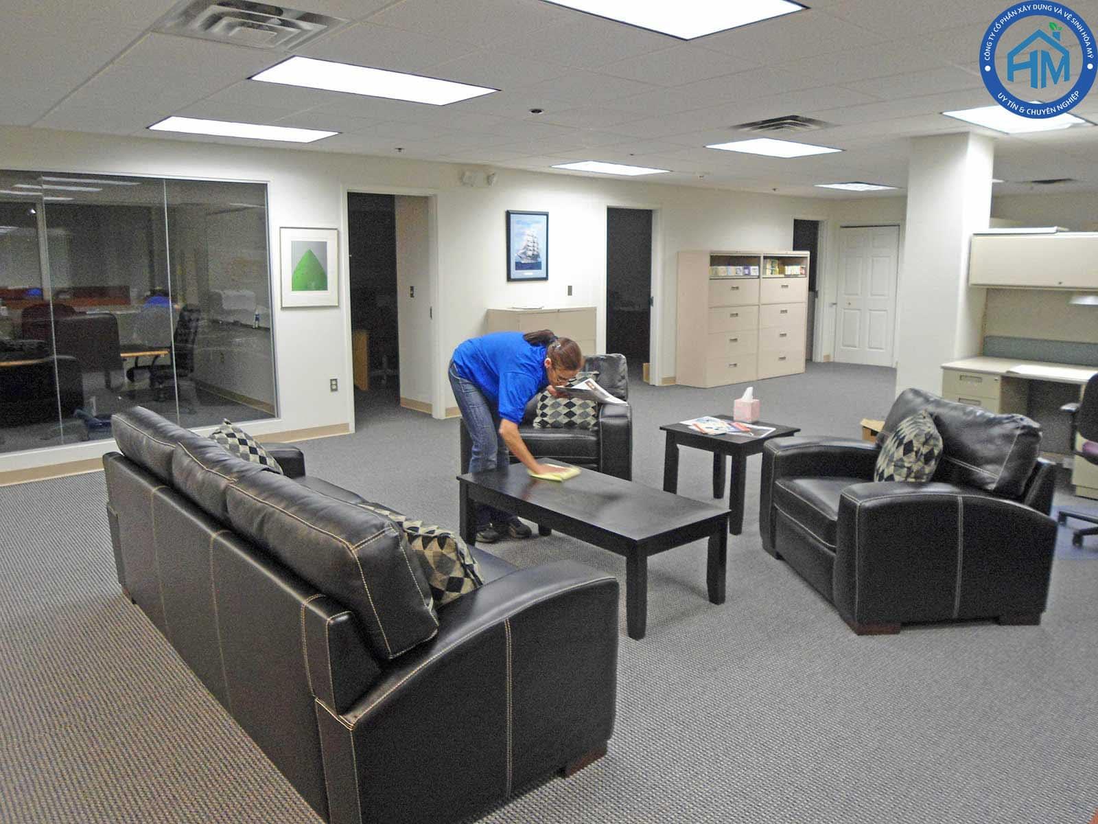 quy trình làm vệ sinh văn phòng