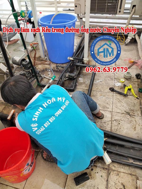 Dịch vụ thông tắc rêu trong đường ống nước sinh hoạt