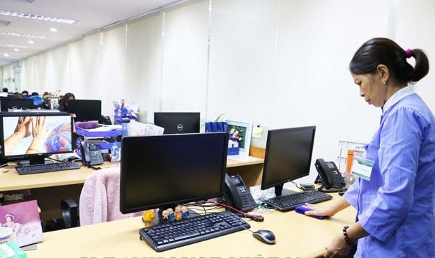 Làm vệ sinh văn phòng theo giờ uy tín nhất Hà Nội - Công ty Hòa Mỹ