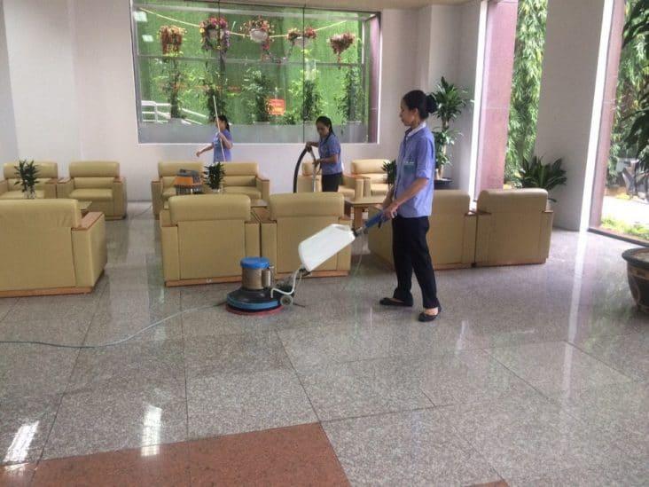 vệ sinh văn phòng theo giờ uy tín chất lượng tại Hà Nội