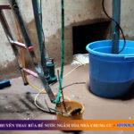 Thau rửa bể nước ngầm tòa nhà chung cư tại Đống Đa