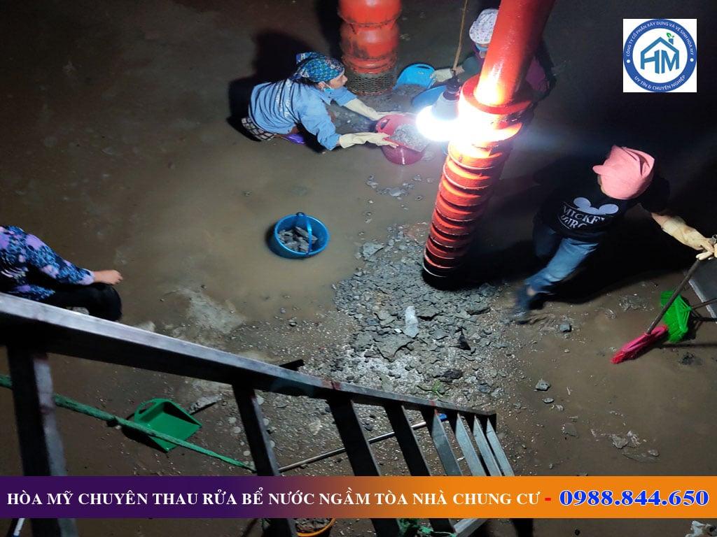 Dịch vụ thau rửa bể nước ngầm tòa nhà chung cư tại Thanh Xuân