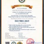Công ty cổ phần xây dựng và Vệ sinh Hòa Mỹ Vinh dự đón nhận chứng nhận ISO 9001-2015
