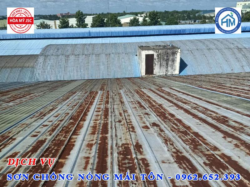Dịch vụ sơn chống nóng mái tôn, bảo vệ mái tôn tránh han rỉ