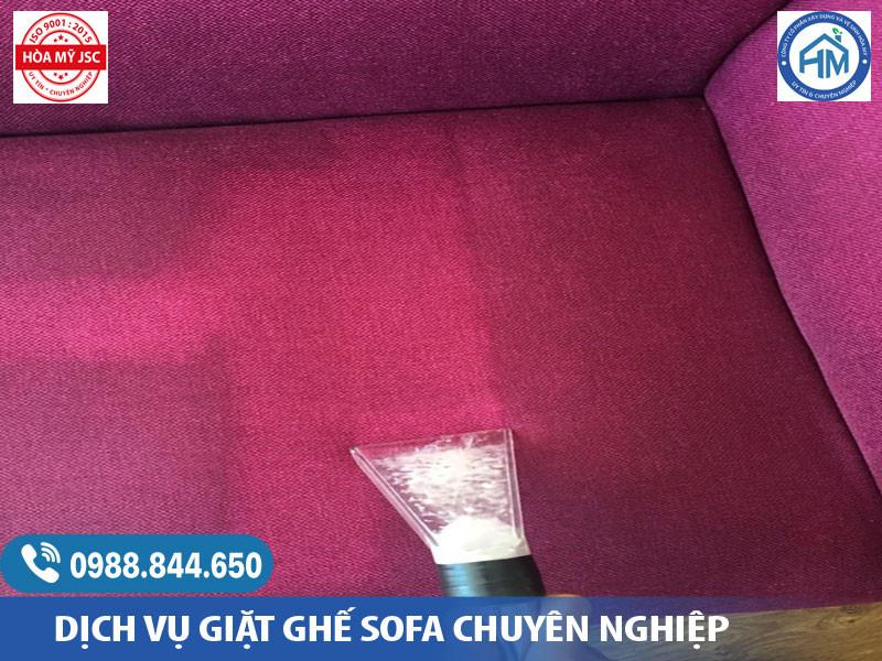 Quy trình giặt ghế Sofa vải