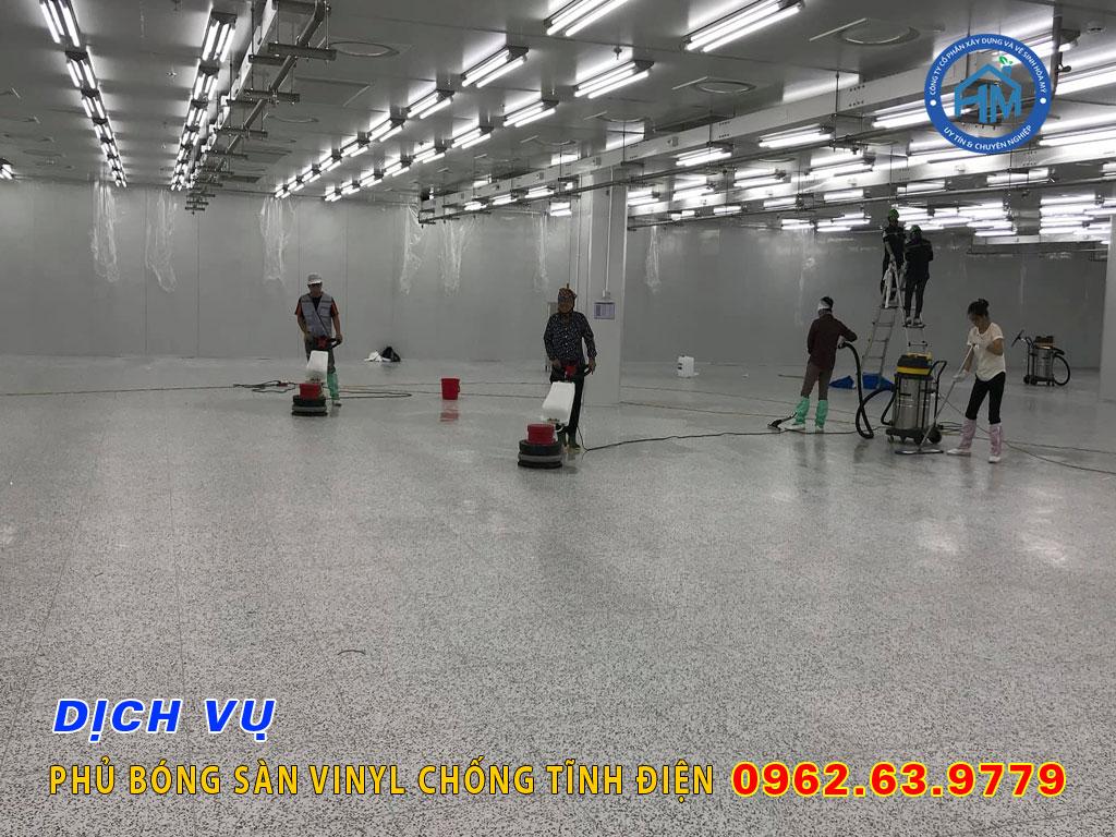 vệ sinh sàn vinyl chống tĩnh điện