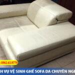 làm sạch ghế sofa da thật