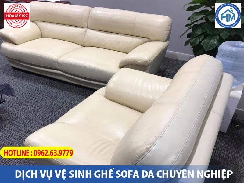 Dịch vụ vệ sinh ghế sofa da